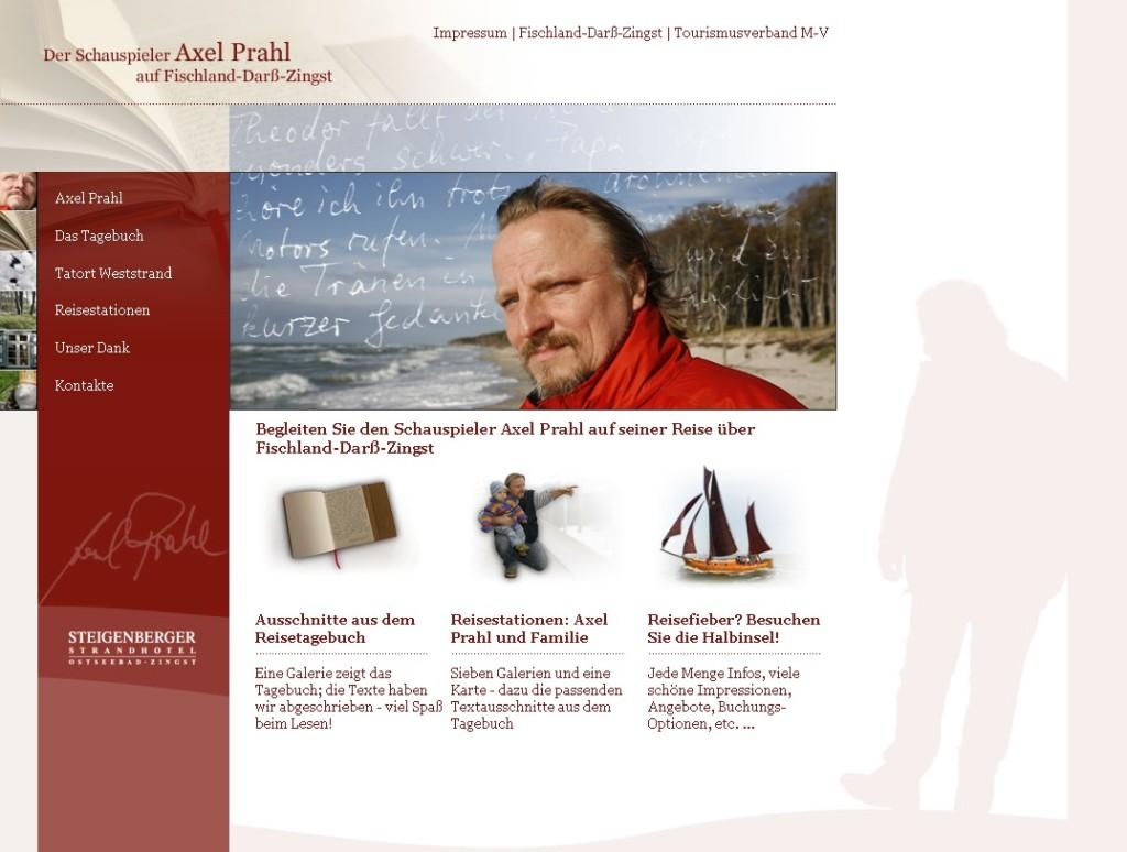 Axel Prahl in MV - Webseite