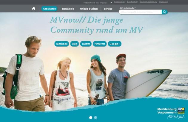 MVnow// - die junge Community in MV Foto: TMV/Roth
